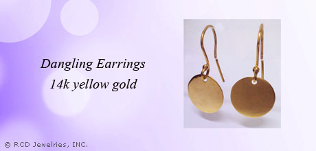 Round Dangling Earrings